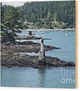 Beacon At Snug Cove Wood Print