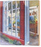 Beacon Hill Flower Shop Wood Print