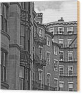 Beacon Hill In Black And White Wood Print