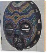 Handbeaded Mask Mexico Wood Print
