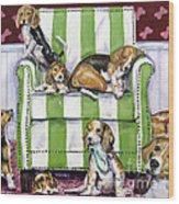 Beagle Mania Wood Print