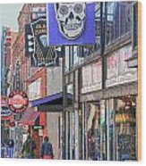 Beale Walk Wood Print by Suzanne Barber