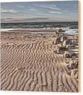 Bealtic Beach Wood Print