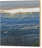 Beaming March Shenandoah Wood Print by Lara Ellis