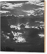 Beams Of Light Wood Print