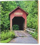 Bean Blossom Covered Bridge Wood Print