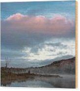 Bean Pond Sunrise Wood Print