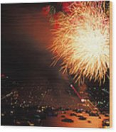 Beantown 4th Of July Wood Print