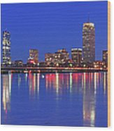 Beantown City Lights Wood Print