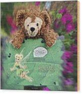 Bear And His Girl Wood Print