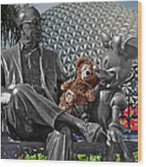 Bear And His Mentors Walt Disney World 04 Wood Print