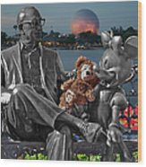 Bear And His Mentors Walt Disney World 05 Wood Print