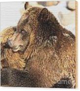 Bear Hug Wood Print
