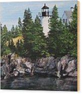Bear Island Lighthouse Wood Print