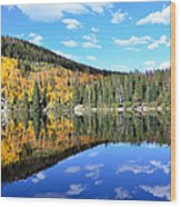 Bear Lake Reflection Wood Print by Tranquil Light  Photography
