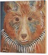 Bear Medicine Wood Print by Ellen Levinson