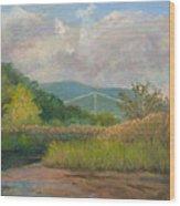 Bear Mountain Bridge From Iona Marsh Wood Print