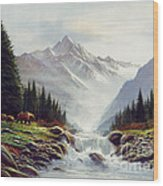 Bear Mountain Wood Print