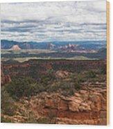 Bear Mountain View Of Sedona Wood Print