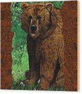 Bear Naked Wood Print