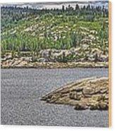 Bear River Creek Reservoir Wood Print