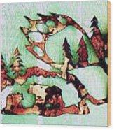 Bear Track 11 Wood Print