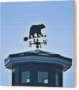 Bear Weathervane Wood Print