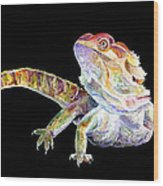 Bearded Dragon Wood Print
