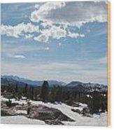 Beartooth Pass Clouds Wood Print