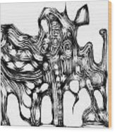 Beast 711 - Marucii Wood Print