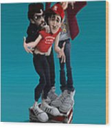 Beastie Boys_the New Style Wood Print by Nelson Dedos Garcia