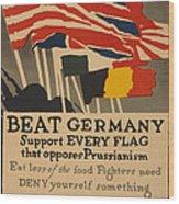 Beat Germany Wood Print by Adolph Treidler