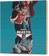 Beatie Boys_the New Style 2 Wood Print by Nelson Dedos Garcia
