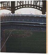 Beatiful View Of Old Yankee Stadium Wood Print