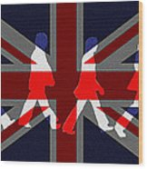 Beatles Abbey Road Flag Wood Print