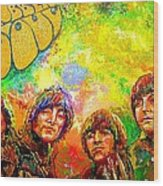Beatles Rubber Soul Wood Print