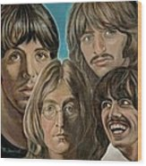 Beatles The Fab Four Wood Print