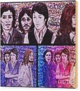 Rainbow Beatles Design Trio Wood Print