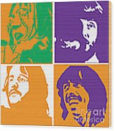 Beatles Vinil Cover Colors Project No.02 Wood Print