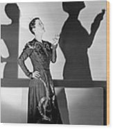 Beatrice Lillie, 1938 Wood Print