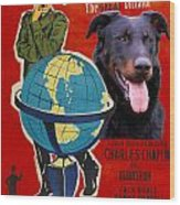 Beauceron Art Canvas Print - The Great Dictator Movie Poster Wood Print