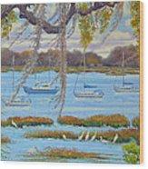 Beaufort Anchorage Wood Print