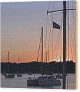 Beaufort Sc Sunset Wood Print