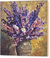 Beaujolais Bouquet Wood Print by David Lloyd Glover