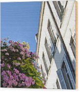 Windows With Flowers Wood Print