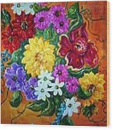 Beauties In Bloom Wood Print