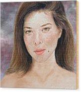 Beautiful Actress Jeananne Goossen Updated Version Wood Print