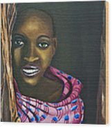 Beautiful African Girl Wood Print
