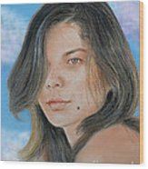 Beautiful And Sexy Actress Jeananne Goossen IIi Altered Version Wood Print