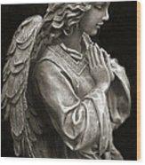 Beautiful Angel Praying Hands Christian Art Print Wood Print